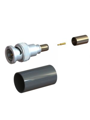 Coax Connectors Ltd 10-045-Q66-AI BNC Straight Crimp/Crimp Plug for RG59 (IP68 Unmated)