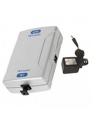 Calrad 10-117 Amplifier Fiber Optic Toslink-Toslink With Power Supply