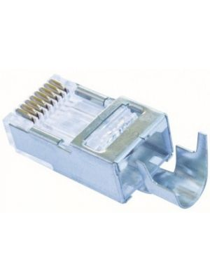 Platinum Tools 100023C Shielded EZ-RJ45® for CAT5e & CAT6 with External Ground (10 Pack)