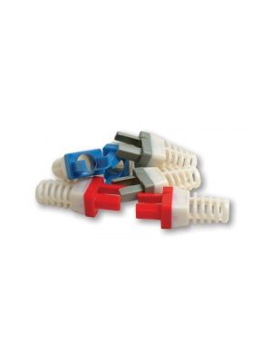 Platinum Tools 100030RC Red Strain Reliefs for EZ-RJ45® CAT6 Connector (50 Pack)