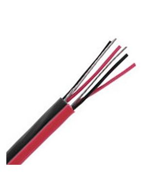 Belden1504A Multi-Conductor Double-Pair Cable - 22 AWG (Black & Red)