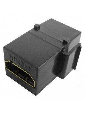 Calrad 28-166K-BK Black HDMI Feed Thru Keystone Insert
