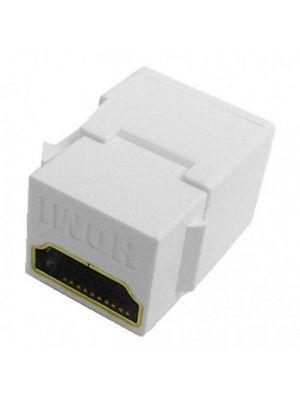 Calrad 28-166K White HDMI Feed Thru Keystone Insert