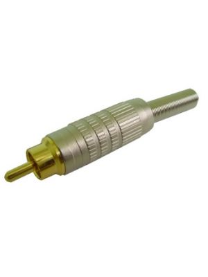 Calrad 30-307 Gold Plated RCA Male Connector w/Strain Relief