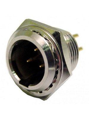 Calrad 30-642-3 3-Pin Mini Chassis Mount XLR Male Plug