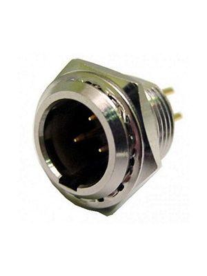 Calrad 30-642-4 4 Pin Male Mini XLR Chassis Mount