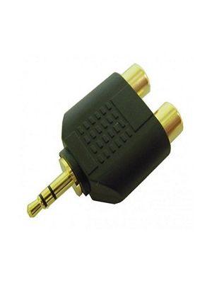 Calrad 35-586G 3.5mm Stereo Plug to Dual RCA Jacks Gold Plated