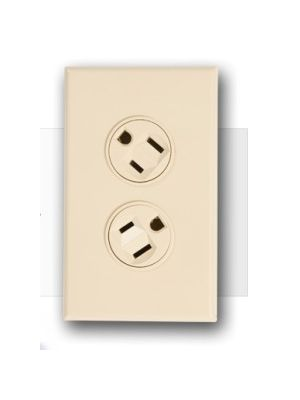 360 Electrical 36010-V Rotating Duplex Outlet (15 Amp) - Ivory