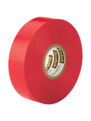 3M 35-1/2-2 Scotch Professional Vinyl Electrical Tape Red