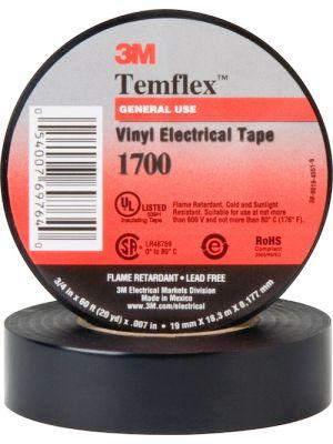 3M 1700 Temflex Vinyl Electrical Tape 3/4 inch x 60'