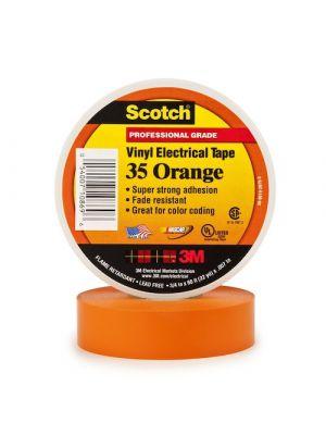 3M 35-3/4 Scotch Brand Vinyl Electrical Tape Orange