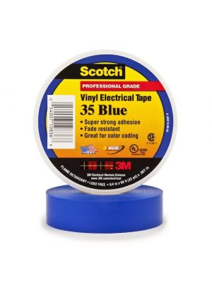 3M 35-3/4 Scotch Brand Vinyl Electrical Tape Blue