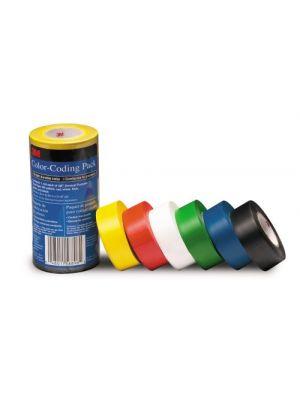 3M 764 Scotch Color Coding General Purpose Vinyl Tape Assortment