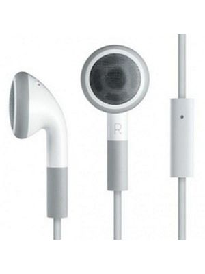 Calrad 42-140 Stereo Earphones with Microphone (White)