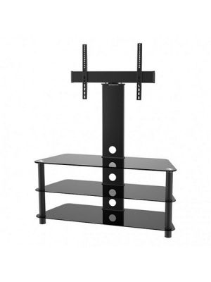 "Calrad 47-200 Elegant Stand with TV Mount & 3 Glass Shelves, Fits 37""-65"""
