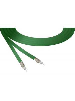 Belden 4855R 12G-SDI 4K Ultra-High-Definition Green Mini-Coax Cable - 23 AWG (1000 FT Roll)