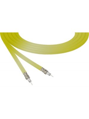 Belden 4855R 12G-SDI 4K Ultra-High-Definition Yellow Mini-Coax Cable - 23 AWG (1000 FT Roll)