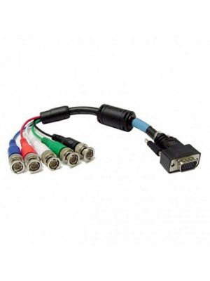 Calrad 55-866-20 HD-DB15 Male to 5 BNC Males RGB+Sync Shielded Video Computer Cable (20 FT)
