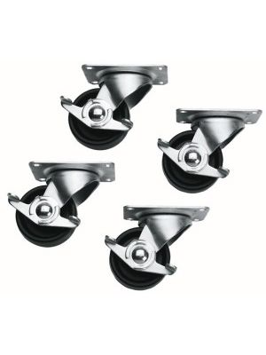 Middle Atlantic 5WL 2 Locking/2 Non-Locking Casters (Slim 5 Series) (Set Of 4)