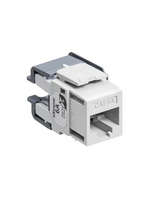 Leviton 6110G-RW6 eXtreme Cat 6A QuickPort Connector (White)