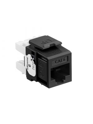 Leviton 61110-RE6 eXtreme Cat 6 QuickPort Jack, Channel-Rated, Black