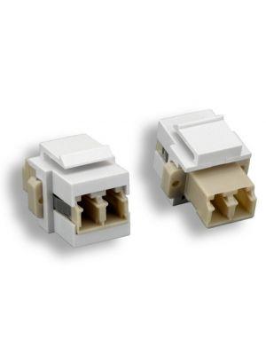 Comtop 68JK-03-LC LC Duplex Fiber Optic Keystone Insert Module (White)
