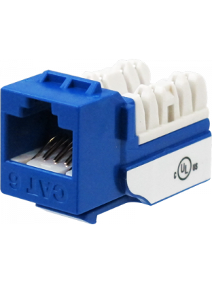 Wavenet 6EKSJBL-S CAT6 Keystone Jack Insert 90 Degree (Blue)