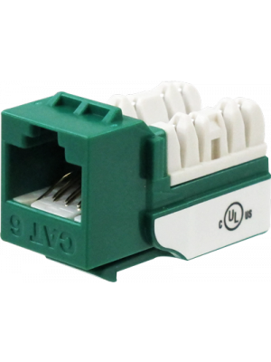 Wavenet 6EKSJGN-S CAT6 Keystone Jack Insert 90 Degree (Green)