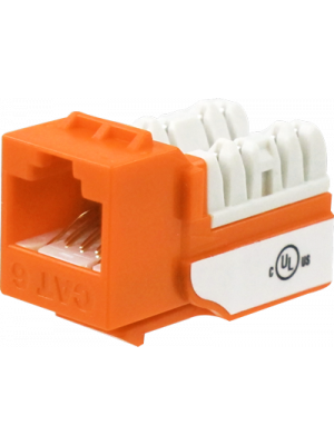 Wavenet 6EKSJOR-S CAT6 Keystone Jack Insert 90 Degree (Orange)