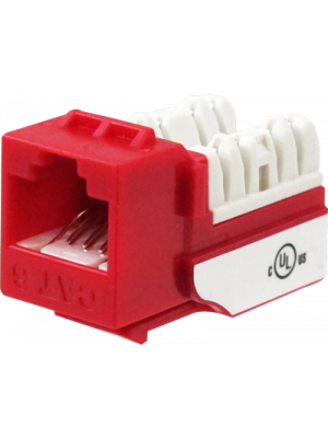 Wavenet 6EKSJRD-S CAT6 Keystone Jack Insert 90 Degree (Red)
