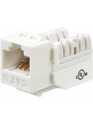 Wavenet 6EKSJWH-S CAT6 Keystone Jack Insert 90 Degree (White)