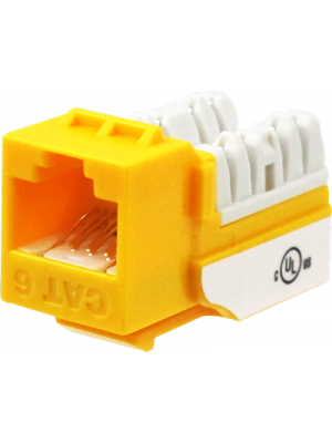 Wavenet 6EKSJYL-S CAT6 Keystone Jack Insert 90 Degree (Yellow)