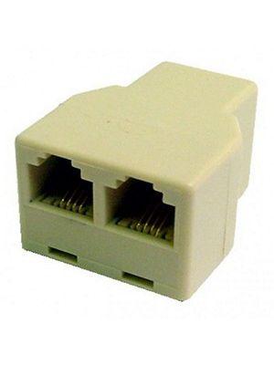 Calrad 70-494 Ivory 3 Way 4 Wire Modular
