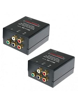 Calrad 95-1146 Component Video Stereo Audio Balun Over Single Cat5e Cable (Pair)