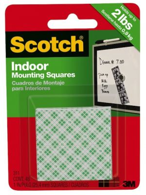 3M 111DC Scotch Indoor Mounting Squares - Double Sided Foam Squares