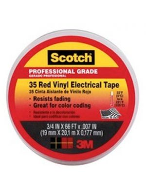 3M 35-3/4-2 Scotch Brand Vinyl Electrical Tape Red