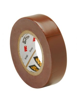 3M 35-1/2 Scotch Professional Vinyl Electrical Tape Brown