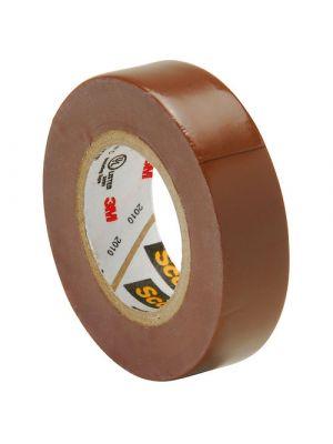 3M 35-1/2 Scotch Professional Vinyl Electrical Tape Brown