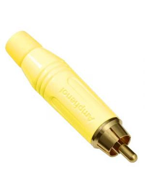 Amphenol ACPR-YEL Male RCA Connector Yellow Finish