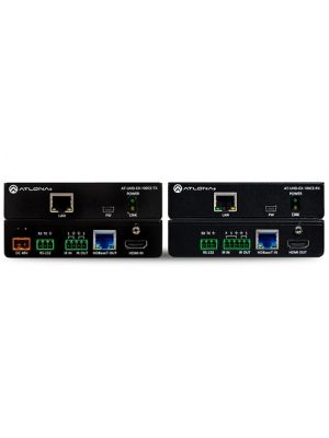 Atlona AT-UHD-EX-100CE-KIT 4K/UHD HDMI Over 100M HDBaseT TX/RX with Ethernet, Control, and PoE