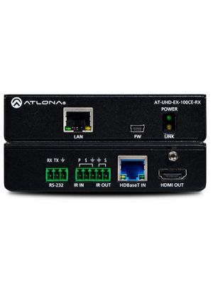 Atlona AT-UHD-EX-100CE-RX 4K/UHD HDMI Over 100 M HDBaseT Receiver with Ethernet, Control, and PoE