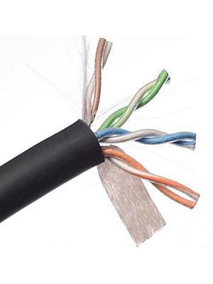 Belden 2413 Multi-Conductor CAT6 Nonbonded-Pair Cable (Black)
