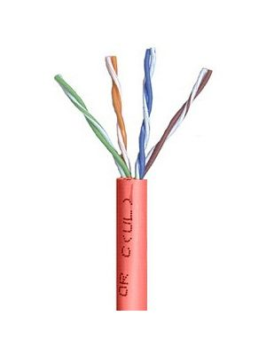 Belden 1583A Multi-Conductor Category 5e Nonbonded 4-Pair Cable - 24 AWG (by the foot) - Red
