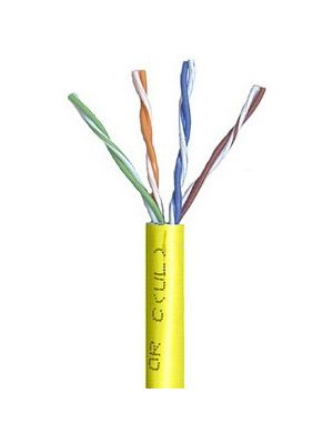 Belden 1583A Multi-Conductor Category 5e Nonbonded 4-Pair Cable - 24 AWG (by the foot) - Yellow