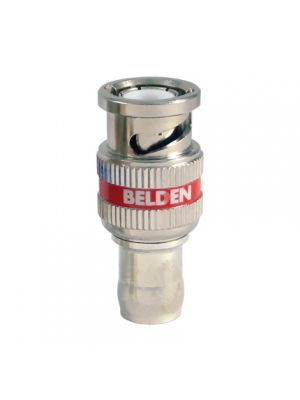 Belden 12 GHz BNC Plug, One Piece RG-59 Compression Connector (50 Pack)