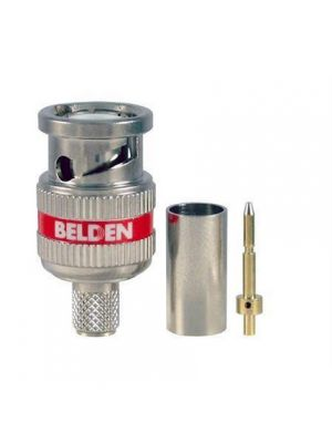 Belden 4505RBUHD3 B50 12 GHz, RG-59, UHD, BNC, 3 Piece Crimp Connector (50 Pack)