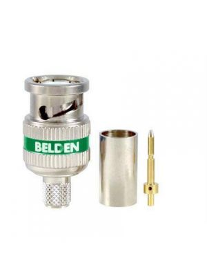 Belden 4694RBUHD3 B50 12 GHz, RG-6, UHD, BNC, 3 Piece Crimp Connector (50 Pack)