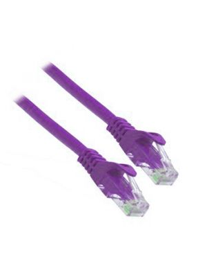 PacPro Cat6a UTP Purple Patch Cord (25 FT)