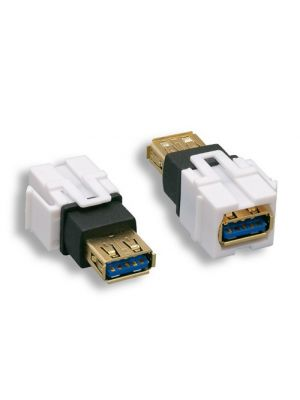 Comtop 68JK-03-U3-AFAF Gold Plated USB 3.0 Type A Female to Female Keystone Insert