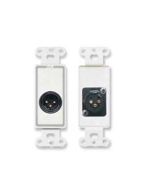Radio Design Labs D-XLR3M XLR 3-pin Male Jack on Decora® Wall Plate